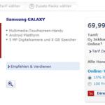 サムソンがAndroid 携帯端末 既に売ってます。(ドイツ)