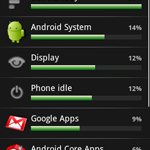 Android Battery usage indicatorがいい( Android 1.6)