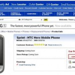 Android Sprint HTC HERO $599.99 (縛りなし)