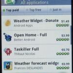 新しいAndroid Marketアプリのリーク画像