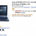 AcerのAndroid Netbook Amazonで予約開始