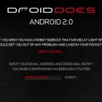 Android 2.0 10月末 or 11月頭