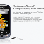 Android Samsung Moment 発表