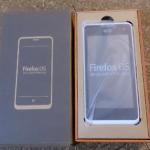 FireFox OS端末 PEAK開封の儀
