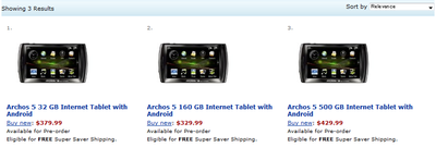 archos amazon us