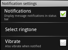 notification setting