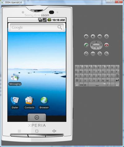 xperia emulator skin